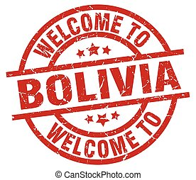 welcome to Bolivia red stamp
