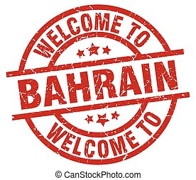 welcome to Bahrain red stamp