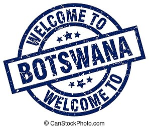welcome to Botswana blue stamp