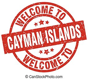 welcome to Cayman Islands red stamp