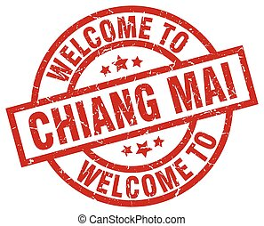 welcome to Chiang mai red stamp