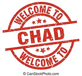 welcome to Chad red stamp