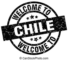 welcome to Chile black stamp