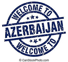 welcome to Azerbaijan blue stamp