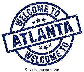 welcome to Atlanta blue stamp