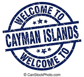 welcome to Cayman Islands blue stamp