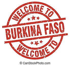welcome to Burkina Faso red stamp