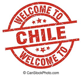 welcome to Chile red stamp