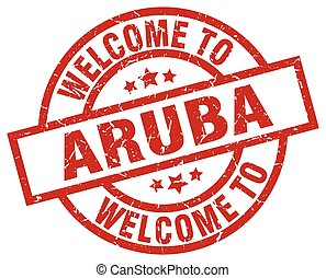 welcome to Aruba red stamp