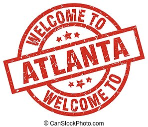 welcome to Atlanta red stamp