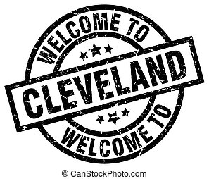 welcome to Cleveland black stamp