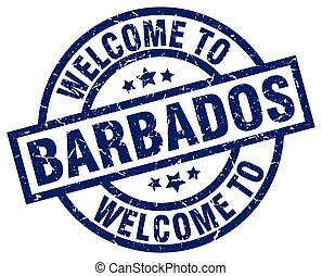 welcome to Barbados blue stamp