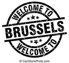 welcome to Brussels black stamp