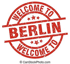 welcome to Berlin red stamp