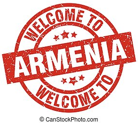 welcome to Armenia red stamp