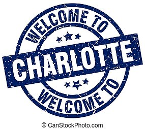 welcome to Charlotte blue stamp