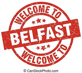 welcome to Belfast red stamp