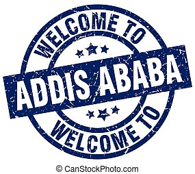 welcome to Addis Ababa blue stamp