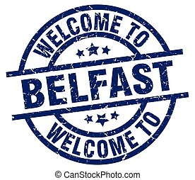 welcome to Belfast blue stamp