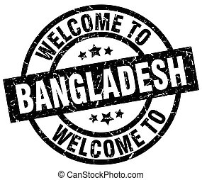 welcome to Bangladesh black stamp