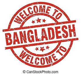 welcome to Bangladesh red stamp