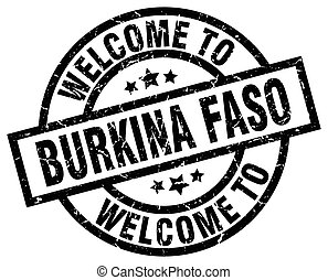 welcome to Burkina Faso black stamp
