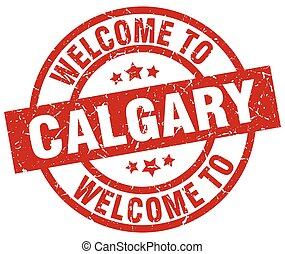 welcome to Calgary red stamp