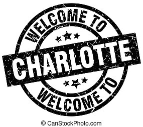 welcome to Charlotte black stamp