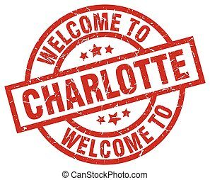 welcome to Charlotte red stamp
