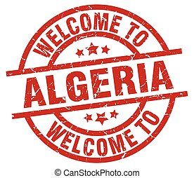 welcome to Algeria red stamp