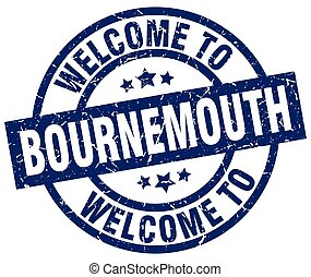 welcome to Bournemouth blue stamp