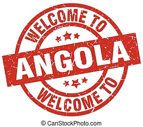 welcome to Angola red stamp