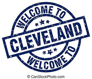 welcome to Cleveland blue stamp