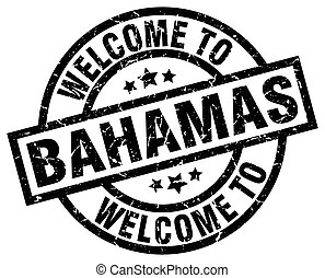 welcome to Bahamas black stamp