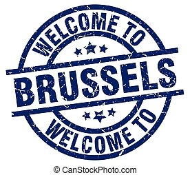 welcome to Brussels blue stamp