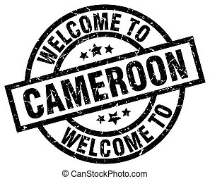 welcome to Cameroon black stamp