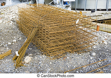 Rebar on construction site in Germany