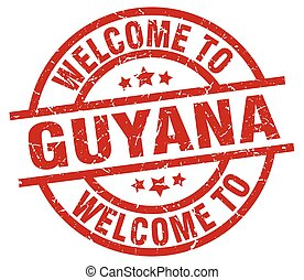 welcome to Guyana red stamp
