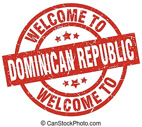 welcome to Dominican Republic red stamp