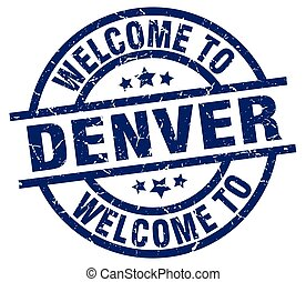 welcome to Denver blue stamp