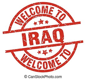 welcome to Iraq red stamp