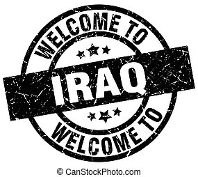 welcome to Iraq black stamp