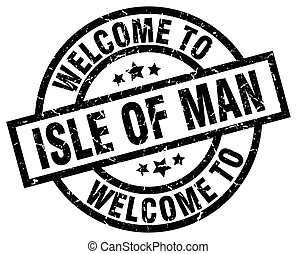 welcome to Isle Of Man black stamp
