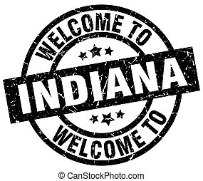 welcome to Indiana black stamp