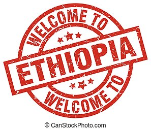 welcome to Ethiopia red stamp