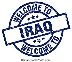 welcome to Iraq blue stamp