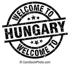 welcome to Hungary black stamp