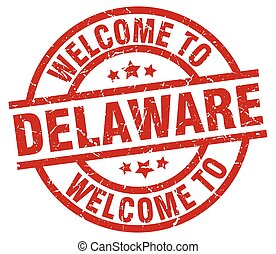 welcome to Delaware red stamp