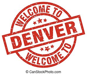welcome to Denver red stamp