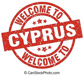 welcome to Cyprus red stamp